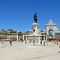 Terreiro do Paco dominated by D. Jose I statue
