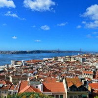 View over Lisbon, the beautiful Portuguese capital city