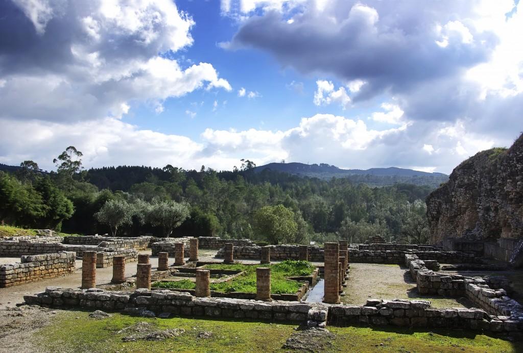 Roman ruins in Conimbriga,Portugal