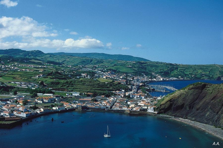 Faial island - The Azores - Island aerial view