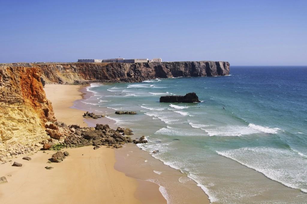Algarve Strand do Tonel Festung - Algarve beach do Tonel fortress 01