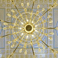 Detail of Salao Nobre's ceiling - Pousada Lisboa
