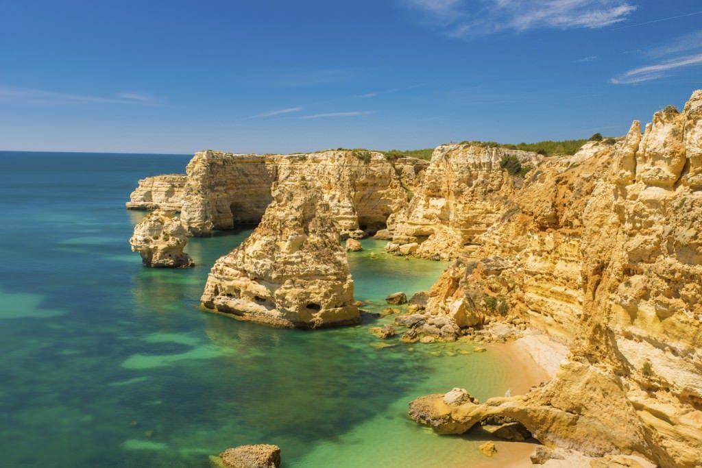the beautiful coastline of portugal