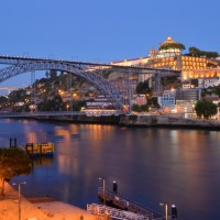 View from the hotel - Douro river, Dom Luis bridge
