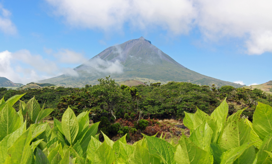 Volcano Pico, viewable from Horta Portugal Azores