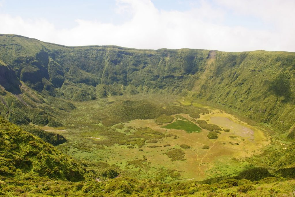view of the faial caldera in azores