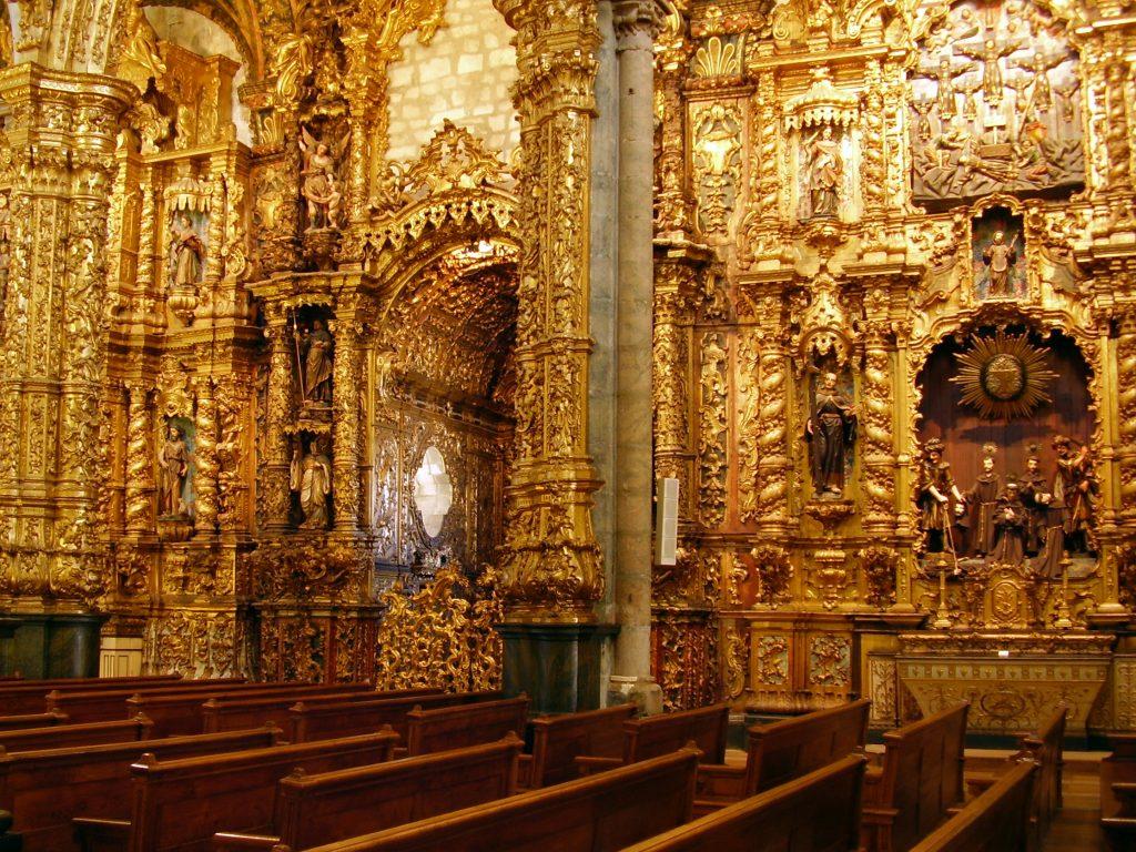 talha dourada in church of sao francisco