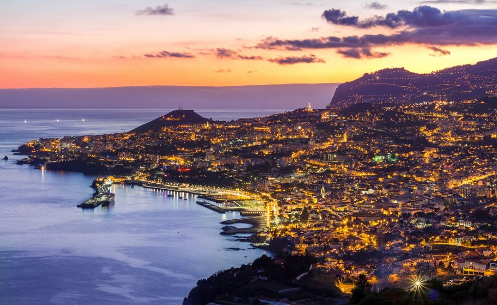 Sunset over Funchal, Madeira, Portugal