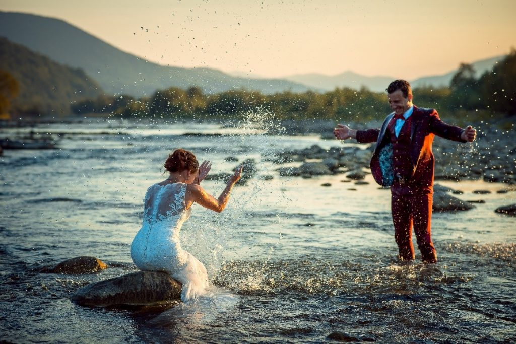 bride-and-groom-wedding-marriage-married-river-water-summer-evening