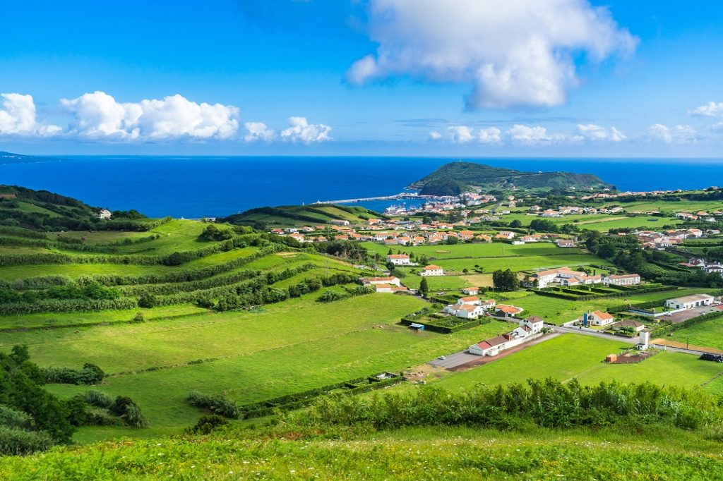 Idyllic landscape in Faial Island, Azores, Portugal